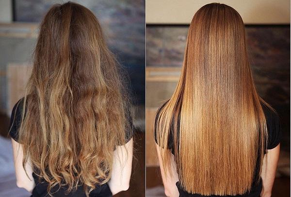 Выпрямление волос домашними средствами
